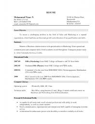 Marketing Resume Objective Examples Examples Of Resumes