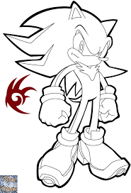 happy super shadow the hedgehog coloring pages 10756