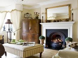 Living Room Traditional Fireplace Decorating Ideas