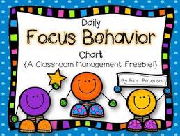 Classroom Management Chart Daily Focus Behavior Chart A Classroom Management Freebie
