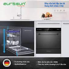 Máy Rửa Chén Eurosun SMS58EU09BT| 8 Bộ Nhỏ Gọn| Khuyến Mãi Lớn
