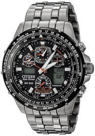 citizen men s eco drive skyhawk a t titanium watch amazon co uk citizen men s eco drive skyhawk a t titanium watch
