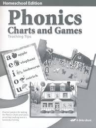 Abeka Phonics Charts And Games Abeka K4 K5 Homeschool Phonics Charts And Games