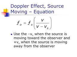 25 doppler effect source moving equation