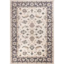 kas oriental rugs avalon ivory and grey mahal rectangular 3 ft 3 in x 5 ft 3 in rug