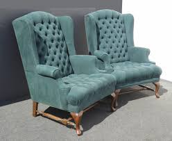 chair blue wingback armchair turquoise armchair wingback settee for navy print accent chair green wingback