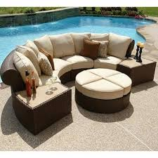 semi circle sectional sectional patio