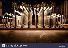 stock photo urban light by chris burden los angeles county museum of art on wilshire boulevard
