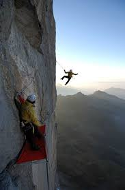 The original route on the eiger north face is one of those technical challenges which was kind of a game of chicken. Roger Schaeli And Simon Gietl Magic Mushroom Route Eiger North Eiger By Thomas Ulrich Jpg 392 590 Extreme Climbing Ice Climbing Mountaineering Climbing