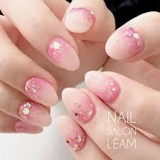 春夏オフィスパーティーハンド Nail Salon Leamのネイルデザイン