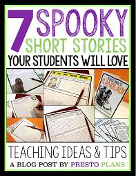 scary short stories to teach around halloween by presto plans 7 scary short stories to teach around halloween