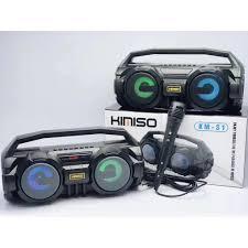 Loa cầm tay Kimiso kết nối Bluetooth hát karaoke cực phế (S1 Black) tặng  kèm mic