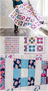 Hopscotch Chelsea Rose Quilt Kit by Craftsy.com. Modern 9 patch ... & Hopscotch Chelsea Rose Quilt Kit by Craftsy.com. Modern 9 patch quilt kit  includes fabrics and quilt pattern to make your own quilt. Adamdwight.com