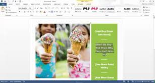 how to create a flyer in microsoft word 2013