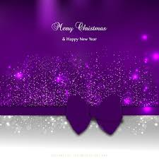 Purple Christmas Card Purple Christmas Greeting Card Background With Bow