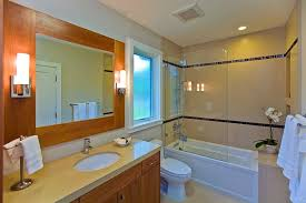 marvelous frameless shower doors in bathroom contemporary with half door next to tiled shower niche alongside
