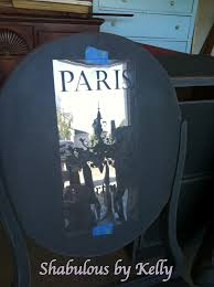 for the chair back she used our paris apartment no 5 stencil this is one of our most popular chandelier stencils
