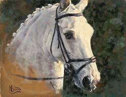 honesty horse head original painting by malcolm coward