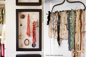 jewelry shadow box rake organization