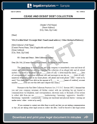 debt collection cease and desist letter