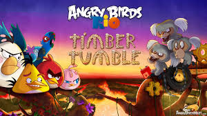 Angry Birds Rio Timber Tumble Wallpaper