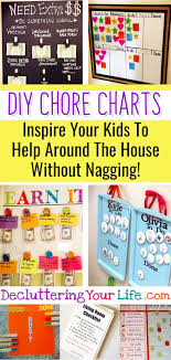 59 Chore Chart Ideas For Kids Multiple Kids Diy Chore
