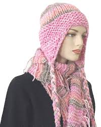 Earflap Hat Knitting Pattern Classy Knitting Pattern Steamboat Striped Earflap Hat And Scarf Set