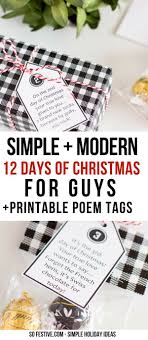 A Modern + Simple 12 Days of Christmas for Guys