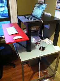 Supreme Lack Coffee Table Standing Desk Ikea Hackers Standing Desk Hack ...