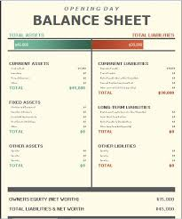 balance sheet template opening day balance sheet template formal word templates