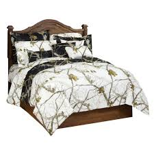 realtree ap black and snow camo bedding