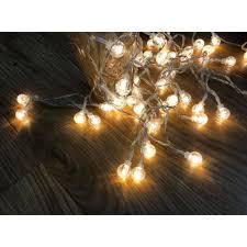 Dây đèn led trang trí bóng pha lê cherry ball 3 mét treo tường phòng ngủ,  trang trí rèm sinh nhật (tặng kèm pin tiểu) - Đèn trang trí Hãng No brand