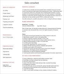 6 Consultant Resume Samples Sample Templates