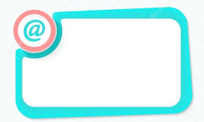 email picture frame pink circle and email symbol and green frame for your text stock vector email picture frame