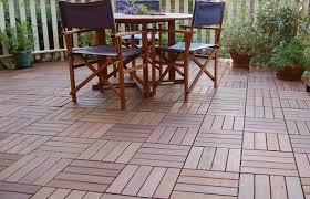 interlocking deck tiles for luxurious