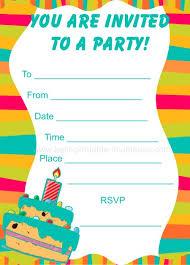 Birthday Invitations Printable 15 Printable Birthday Party Invitations Medical Resume