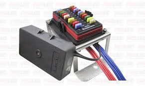 prolec 20 way fuse block box holder kit mini blade caravan dual prolec s new 20 way fuse box is ideal for caravans motor homes boats and other applications running numerous circuits and accessories