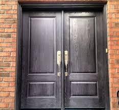 enchanting is steel or fiberglass the better entry door 2 panel fiberglass double door in charcoal stain finish steel versus fiberglass entry doors