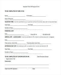 Employee Time Off Request Form Pdf. Request Form ...