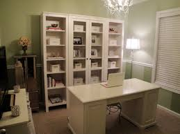 Shabby chic white office decor