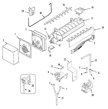 Kenmore ice maker parts diagram awesome maytag side by side refrigerator parts model mzd2768geb