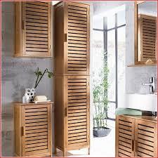 Badmöbel Aus Bambus Badmöbel Hochschrank Badezimmerschrank