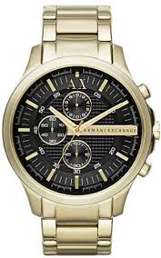 men s gold armani exchange chronograph watch ax2137