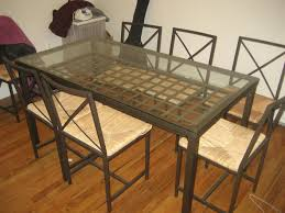 ikea glass top dining table and chairs designs