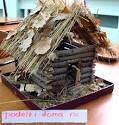 Как сделать домик из веток пошагово 184