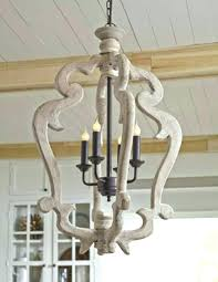 distressed antique white chandelier awesome white wood chandelier
