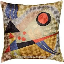 kandinsky abstract silk throw pillow cover composition  x