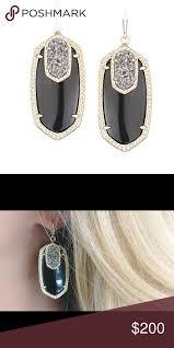 Kendra Scott Emmys Emmy Earrings Gold Hardware Black Stone