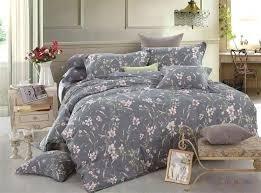 rose duvet cover duvet set 3 2 cotton cherry blossom dusk fl grey gray rustic rose rose duvet cover