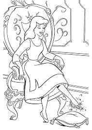 Slipper For Cinderella Coloring Pages For
